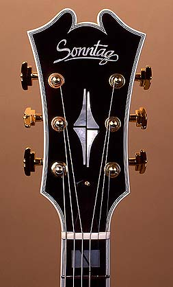 Jazz guitar head stock